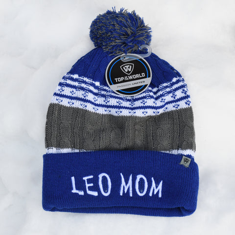 LEO MOM knit hat, blue