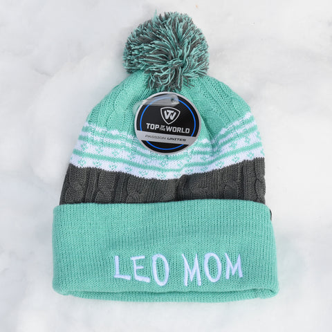 LEO MOM knit hat, green