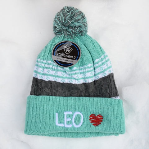 LEO knit hat, green