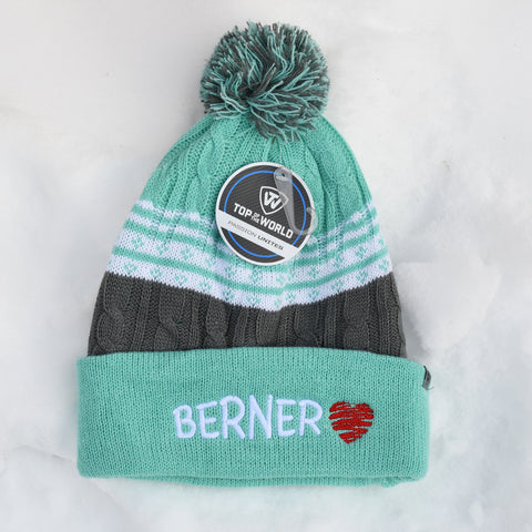 BERNER knit hat, green
