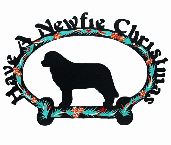 Have A Newfie Christmas, Metal Sign