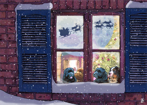 Waiting for Santa, Christmas Cards - 10 cards
