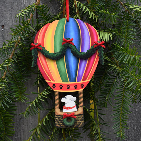 Holiday Balloon with Pyrenees Ornament