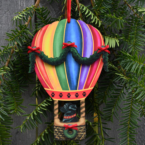Holiday Balloon with Black Newf Ornament