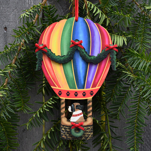 Holiday Balloon with Saint Bernard Ornament