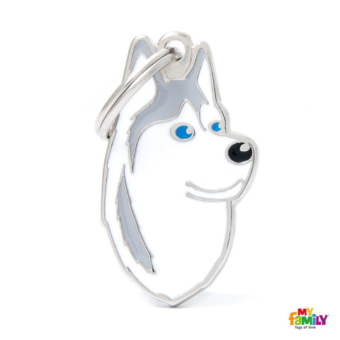 Siberian Husky Grey & White Tag