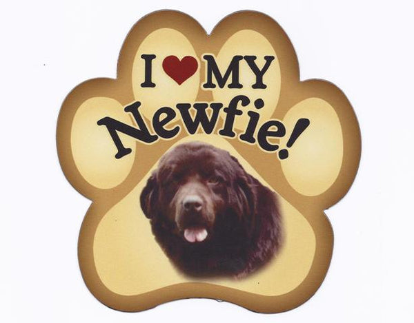 I Love My Newfie paw - Magnet