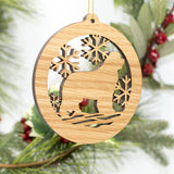 """Newfoundland White Oak Carved Ornament"""