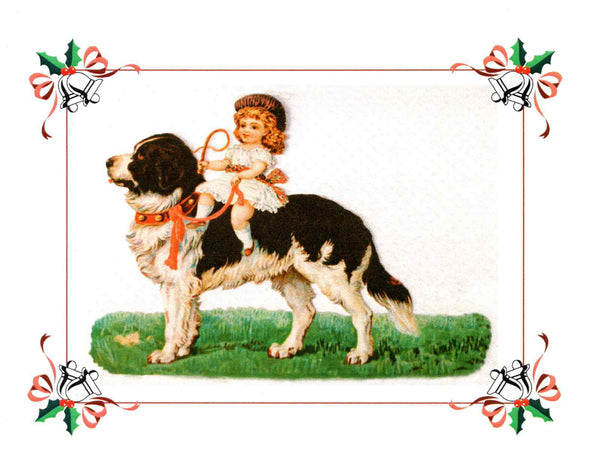 Early Victorian Landseer, Blank Note Card