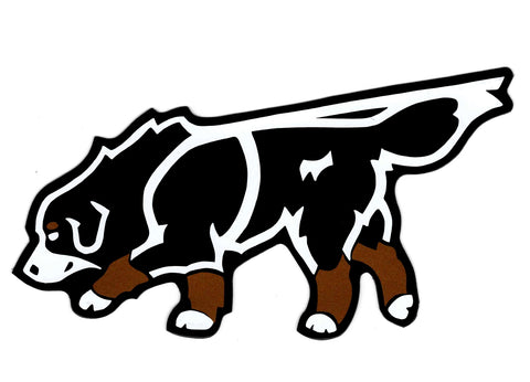 Tracking Bernese Mountain Dog Decal for Tinted Glass
