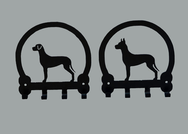 Great Dane Key Holders - Black