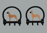 Great Dane Key Holders - Fawn