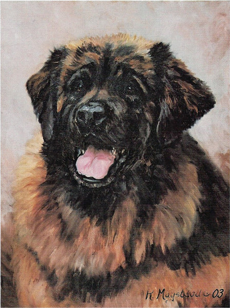 Leonberger Blank Note Cards