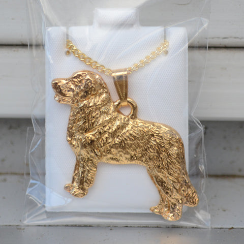 24K Gold Plated Leonberger Pendant & Chain
