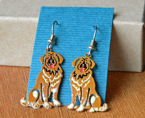 """Leonberger Earrings"""