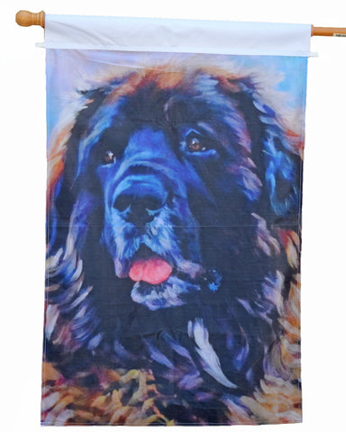 Leonberger, Snowie - 1 Ply Full Sized Flag
