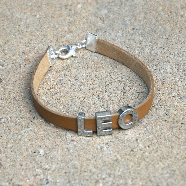 """LEO"" charm/friendship bracelet - 7 inches"