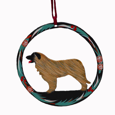 Hand Painted Leonberger Metal Ornament