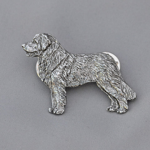 Antiqued Pewter Leonberger Pin