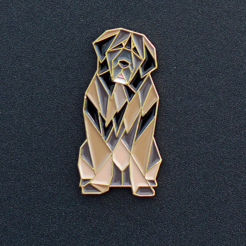 Leonberger Origami Enamel Pin - NEW