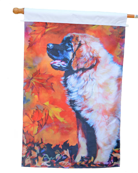 Autumn Leo Pup - 1 Ply Full Sized Flag