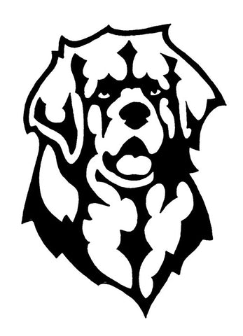 Leonberger Decal for Tinted Glass - WHITE