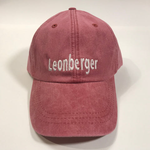 """Leonberger, embroidered cap - nautical red & white"""