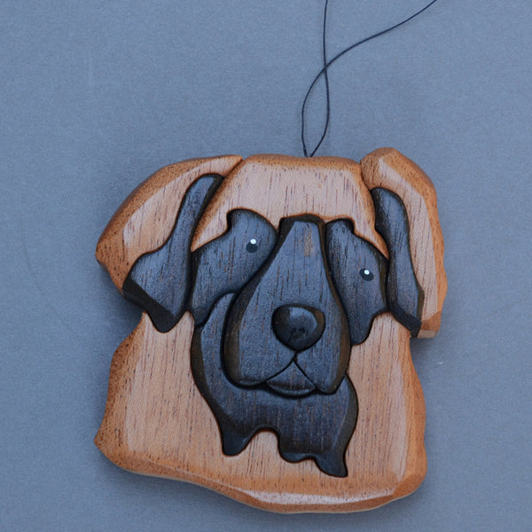"""Leonberger 3-D Wood Art Ornament"""