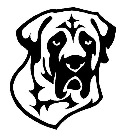 Mastiff Decal for Tinted Glass - WHITE