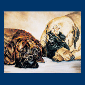 Mastiff Blank Note Cards