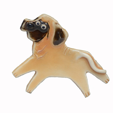 Ceramic Mastiff Pin