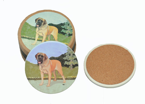 Mastiff Bisque Beverage Coasters