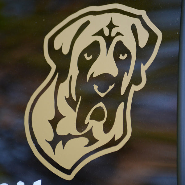 Mastiff Decal for Tinted Glass - GOLD