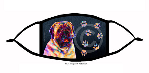 funky pups mastiff face mask