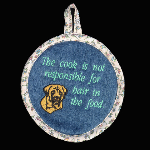 Denim Pot Holder - Mastiff