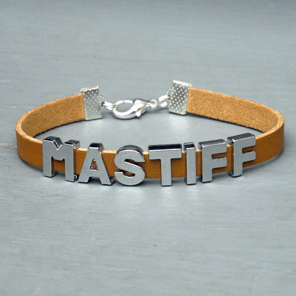 """MASTIFF"" charm/friendship bracelet - 7.5 inches"