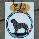 Hand Painted Mastiff Metal Ornament - Brindle