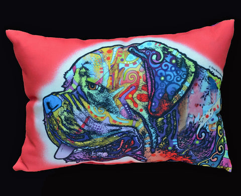 """Double Sided Russo Mastiff Pillow"""