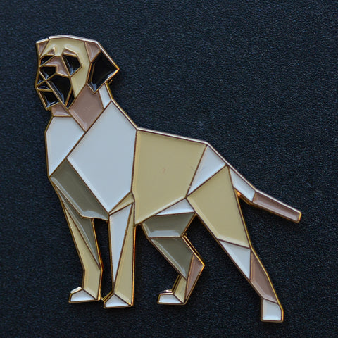 Mastiff Origami Enamel Pin - NEW