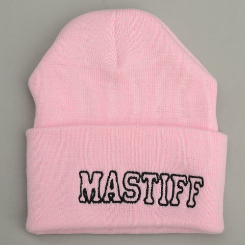 Adult Knit Beanie - MASTIFF, pink