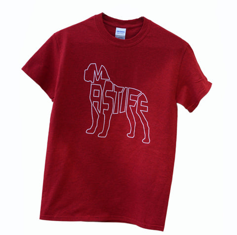 Mastiff T-Shirt - cherry