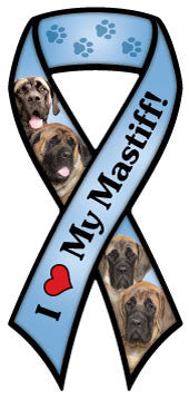 Mastiff Ribbon - Magnet