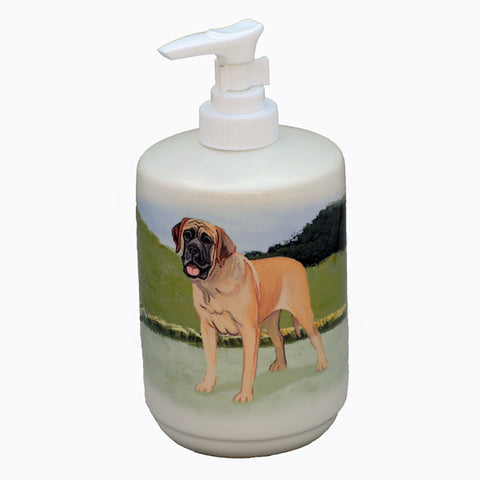 Ceramic Mastiff Soap Dispenser