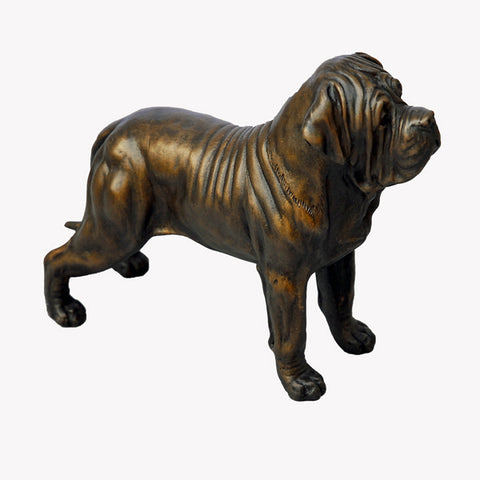 Standing Mastiff - small bronze sculpture