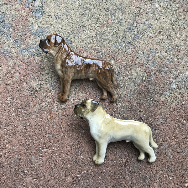 Hand Painted Pewter Mastiff Pin - 2 colors