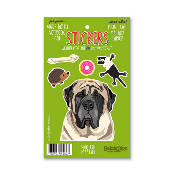 Weather Resistant Mastiff Stickers