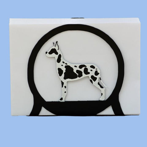 Great Dane Napkin/Letter Holder - Harlequin