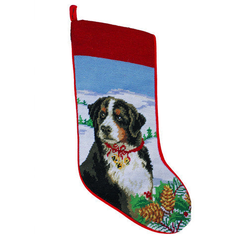 Neddlepoint Berner Christmas Stocking
