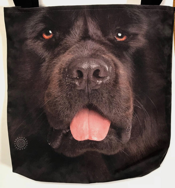 Big Face Newf Tote Bag