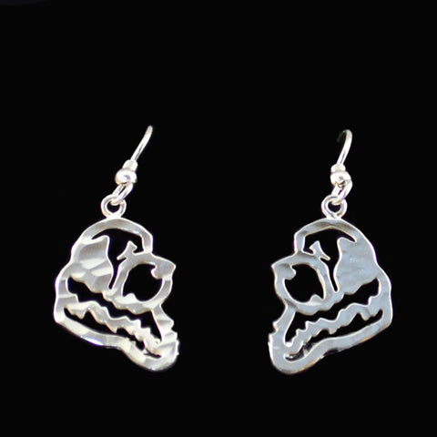 """Sterling Silver Newfoundland Silhouette Earrings"""